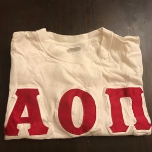 AOII Stitched Letter T Shirt